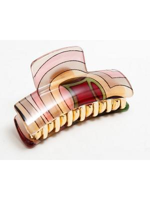 Заколка Kameo-bis. Цвет: бежевый, розовый, бордовый