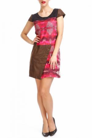 Платье Custo Barcelona. Цвет: коричневый