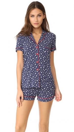 Пижама All American PJ Salvage. Цвет: темно-синий