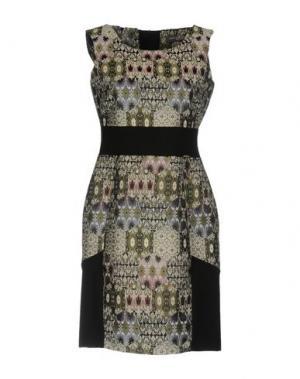 Короткое платье CARLA MONTANARINI. Цвет: серый