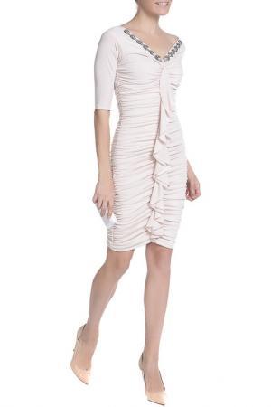 Платье XS MILANO. Цвет: бежевый