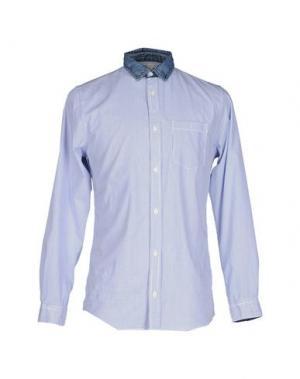 Pубашка GNIOUS. Цвет: синий