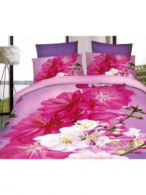 Постельное белье Микрофибра 5D1,5-сп 10710 МарТекс. Цвет: розовый