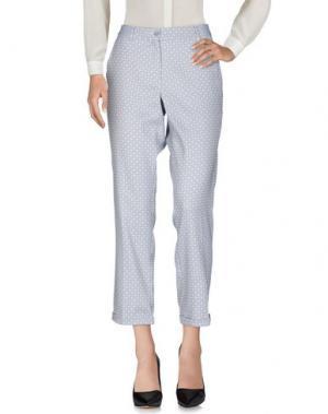 Повседневные брюки BREBIS NOIR. Цвет: небесно-голубой