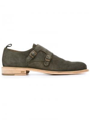 Туфли-монки Ami Alexandre Mattiussi. Цвет: зелёный