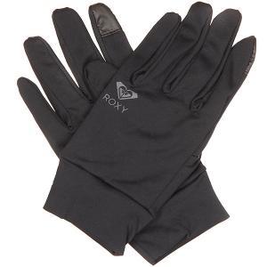 Перчатки сноубордические женские  Liner True Black Roxy. Цвет: черный