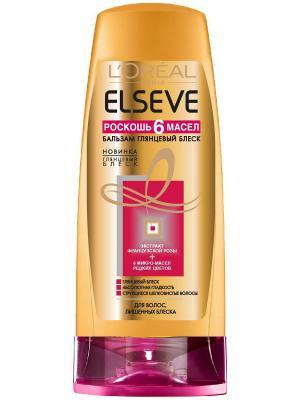 Бальзам для волос  Elseve, Роскошь 6 масел , глянцевый блеск, волос, лишенных блеска, 200 мл L'Oreal Paris. Цвет: белый