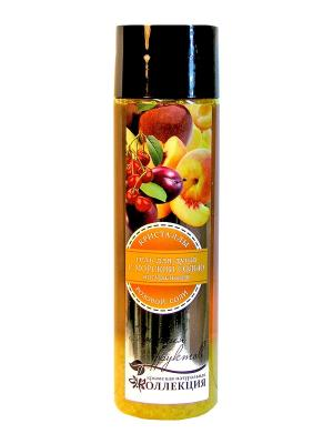 Гель для душа с морской солью. Энергия фруктов.300 гр Крымская Натуральная Коллекция. Цвет: белый