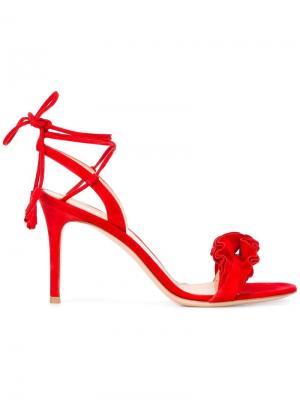 Flora frill sandals Gianvito Rossi. Цвет: красный