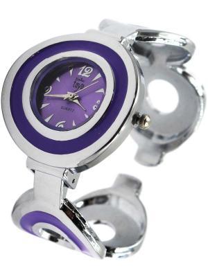 Часы Taya. Цвет: серебристый, лиловый