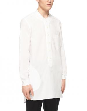 Хлопковая рубашка YMC. Цвет: белый