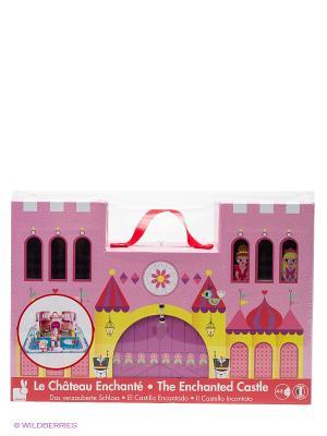 Набор конструктор Замок принцессы Janod. Цвет: розовый