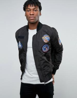 Abuze London Куртка-пилот. Цвет: черный