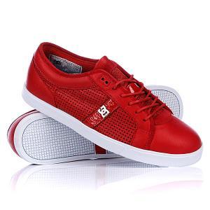 Кеды кроссовки низкие DC Dress Sneaker Shoe Red Shoes. Цвет: красный