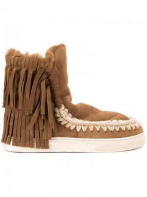 Ботинки Eskimo Sneaker Fringes Mou. Цвет: коричневый