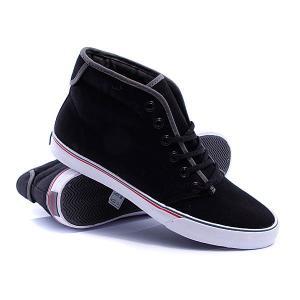 Кеды кроссовки высокие  Slymz Mid Black Gravis. Цвет: черный
