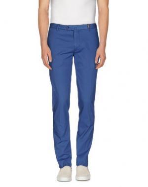Повседневные брюки GIO ZUBON. Цвет: лазурный