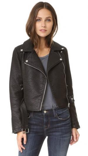 Куртка из искусственной кожи ElevenParis. Цвет: голубой