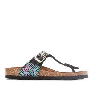Туфли без задника синтетические BIRKENSTOCK. Цвет: рисунок разноцветный