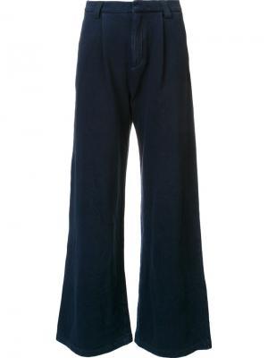 Расклешенные брюки Ag Jeans. Цвет: синий