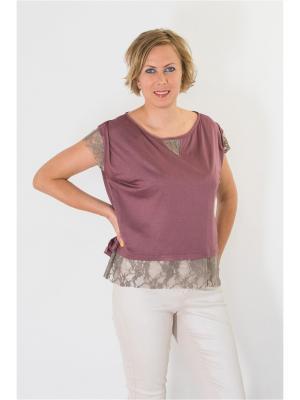 Блузка Brava Catalan. Цвет: бордовый