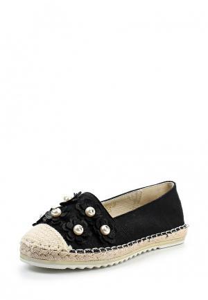 Эспадрильи Ideal Shoes. Цвет: черный