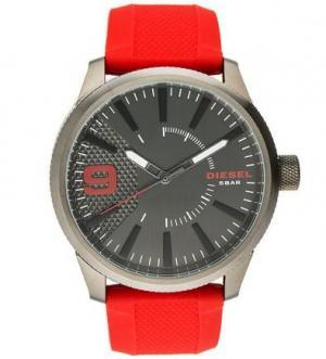 Часы с силиконовым браслетом красного цвета Diesel