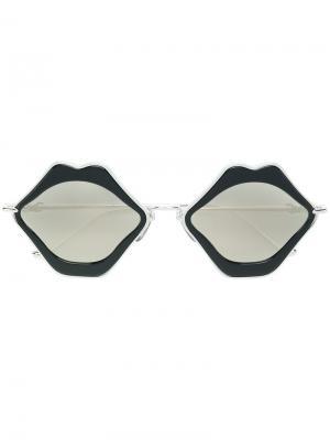 Oversized sunglasses Chrome Hearts. Цвет: чёрный