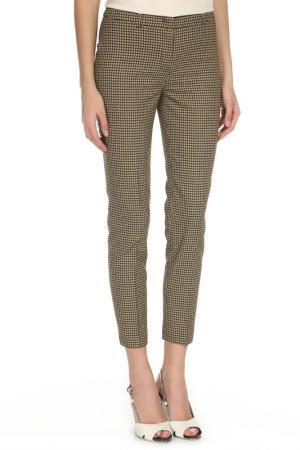 Укороченные брюки с застежкой на молнию YARMINA. Цвет: горчичный