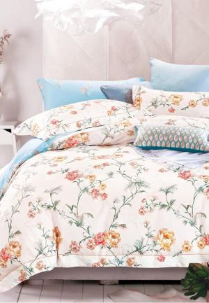 Комплект постельного белья Bellehome. Цвет: голубой