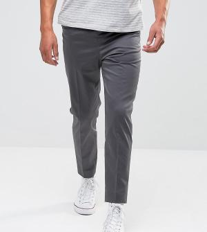 Noak Укороченные узкие брюки. Цвет: серый