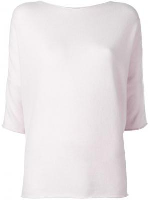 Блузка с рукавами три четверти Lamberto Losani. Цвет: розовый и фиолетовый