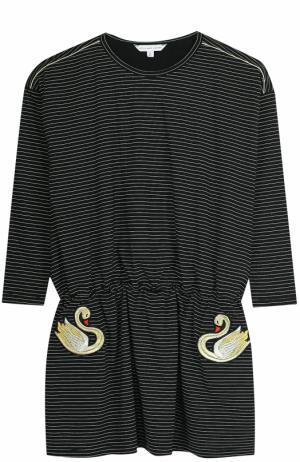 Платье джерси в контрастную полоску Marc Jacobs. Цвет: черный