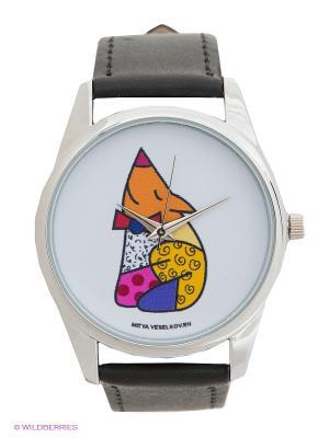 Часы Mitya Veselkov Лисичка. Цвет: черный