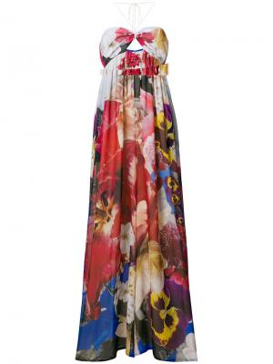 Комбинезон с цветочным принтом Roberto Cavalli. Цвет: многоцветный