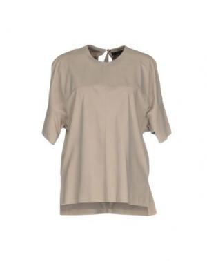 Блузка GUCCI. Цвет: серый