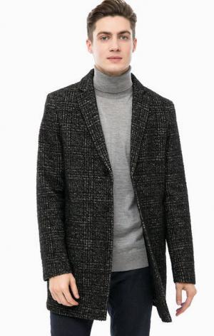 Демисезонное пальто на пуговицах Cinque. Цвет: серый