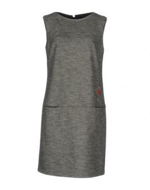Короткое платье ROBERTA SCARPA. Цвет: свинцово-серый