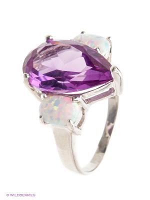 Кольцо BALEX. Цвет: серебристый, фиолетовый, белый
