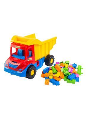 Multi Truck грузовик с конструктором ТИГРЕС. Цвет: желтый, синий, зеленый, красный
