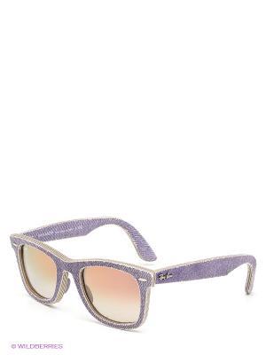 Очки солнцезащитные Ray Ban. Цвет: синий, коричневый