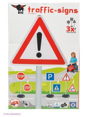 Игрушечные дорожные знаки - 3 шт. BIG. Цвет: серый