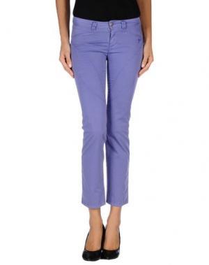 Повседневные брюки 9.2 BY CARLO CHIONNA. Цвет: фиолетовый
