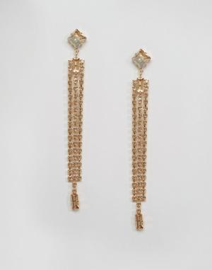 Krystal Серьги с кристаллами Swarovski от. Цвет: золотой