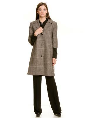 Пальто Levall. Цвет: серый