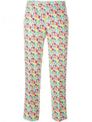 Укороченные брюки с цветочным принтом Au Jour Le. Цвет: многоцветный