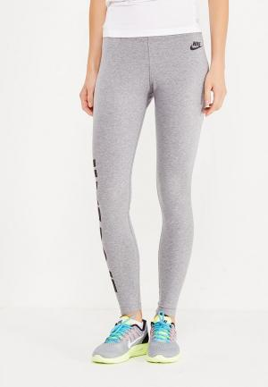 Леггинсы Nike. Цвет: серый
