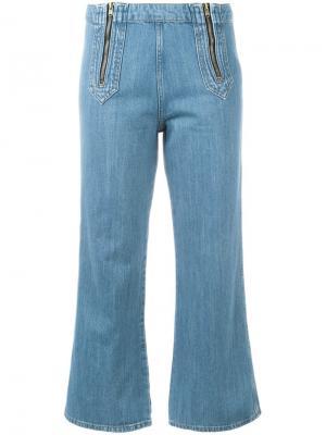 Расклешенные джинсы Arrow Mih Jeans. Цвет: синий
