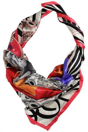 Шелковый платок SHALBE. Цвет: красный