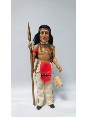 Кукла Tribu Kiowas- Шаман племени Lamagik S.L. Цвет: красный, черный, светло-коричневый, молочный